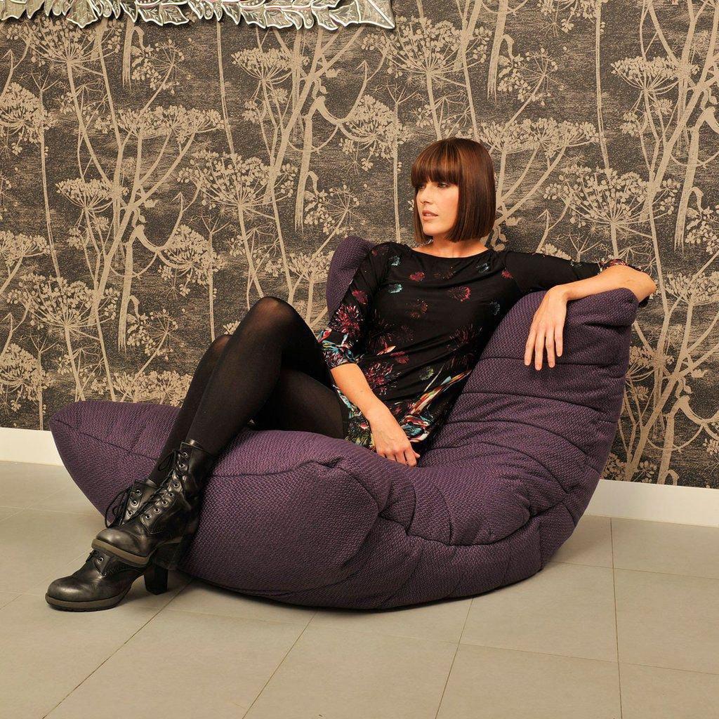 ambient lounge acoustic sofa aubergine dream