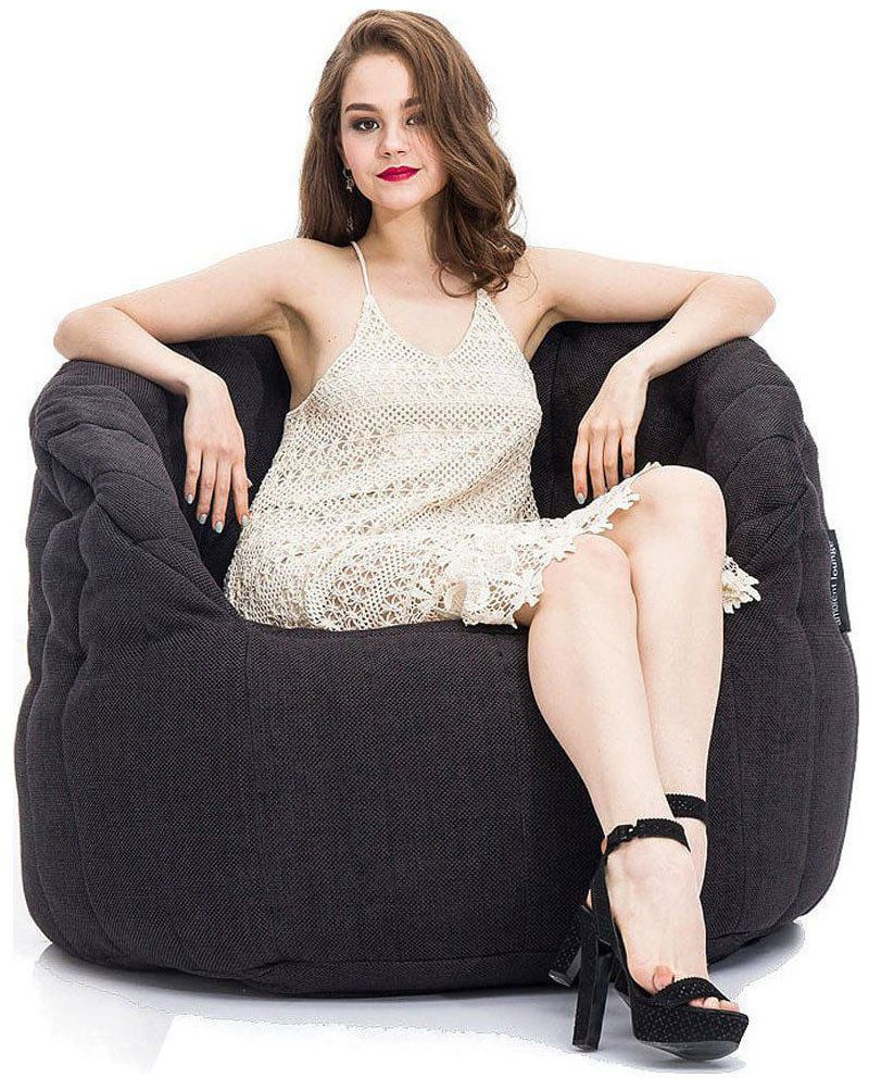 ambient lounge butterfly sofa black sapphire