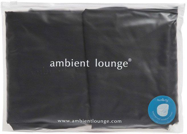 ambient lounge butterfly sofa fitted cover zwart