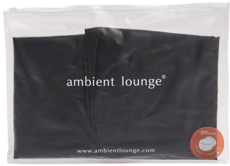 ambient lounge ottoman wing fitted cover zwart