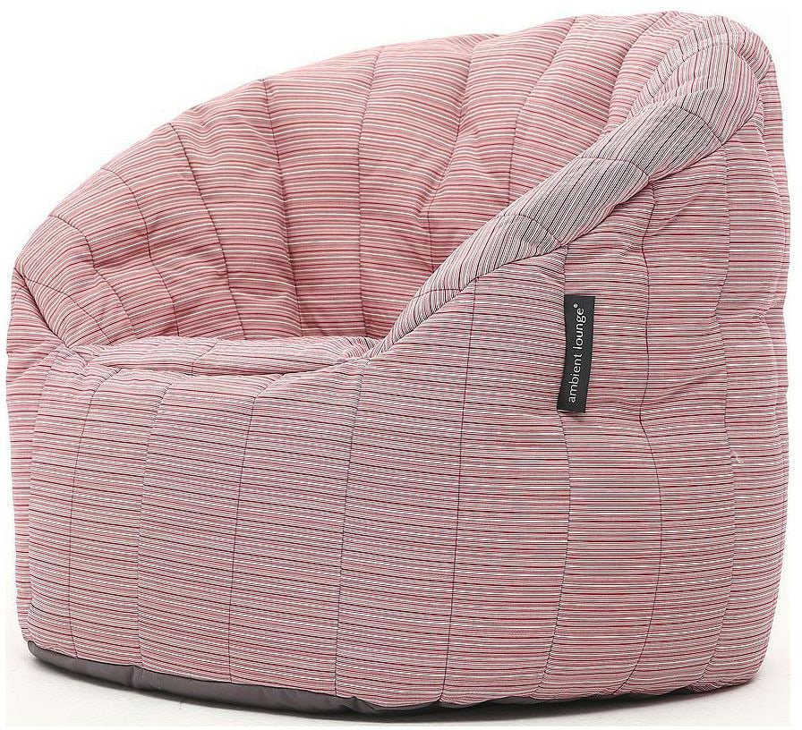ambient lounge outdoor butterfly sofa raspberry polo