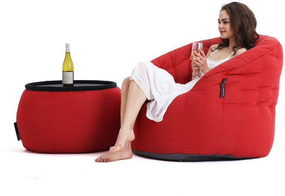 ambient lounge outdoor poef wing ottoman crimson vibe