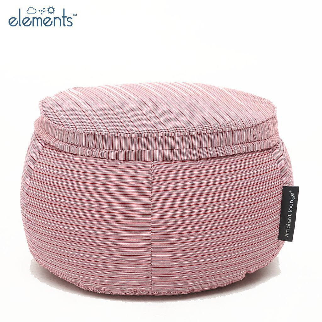 ambient lounge outdoor poef wing ottoman raspberry polo