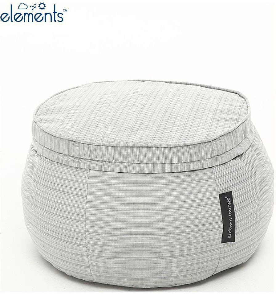 ambient lounge outdoor poef wing ottoman silverline