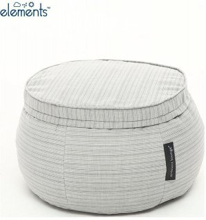 Ambient Lounge Outdoor Poef Wing Ottoman - Silverline