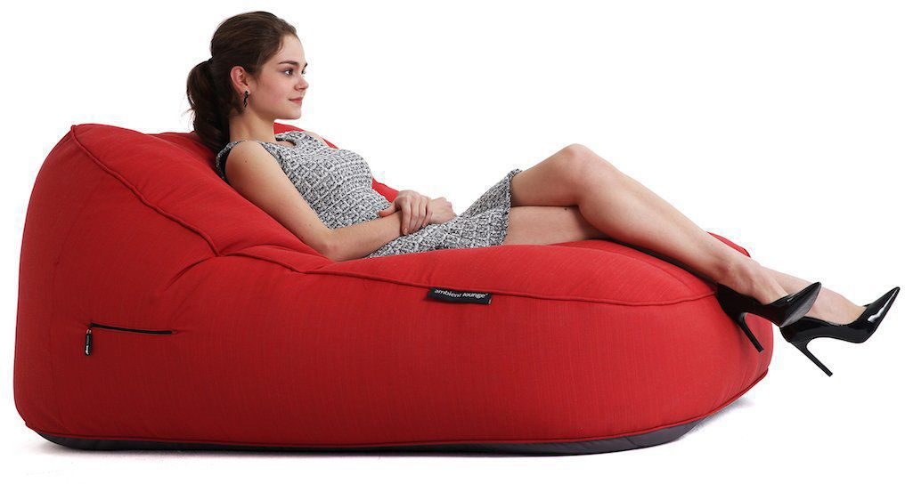 ambient lounge outdoor satellite twin sofa crimson vibe sunbrella