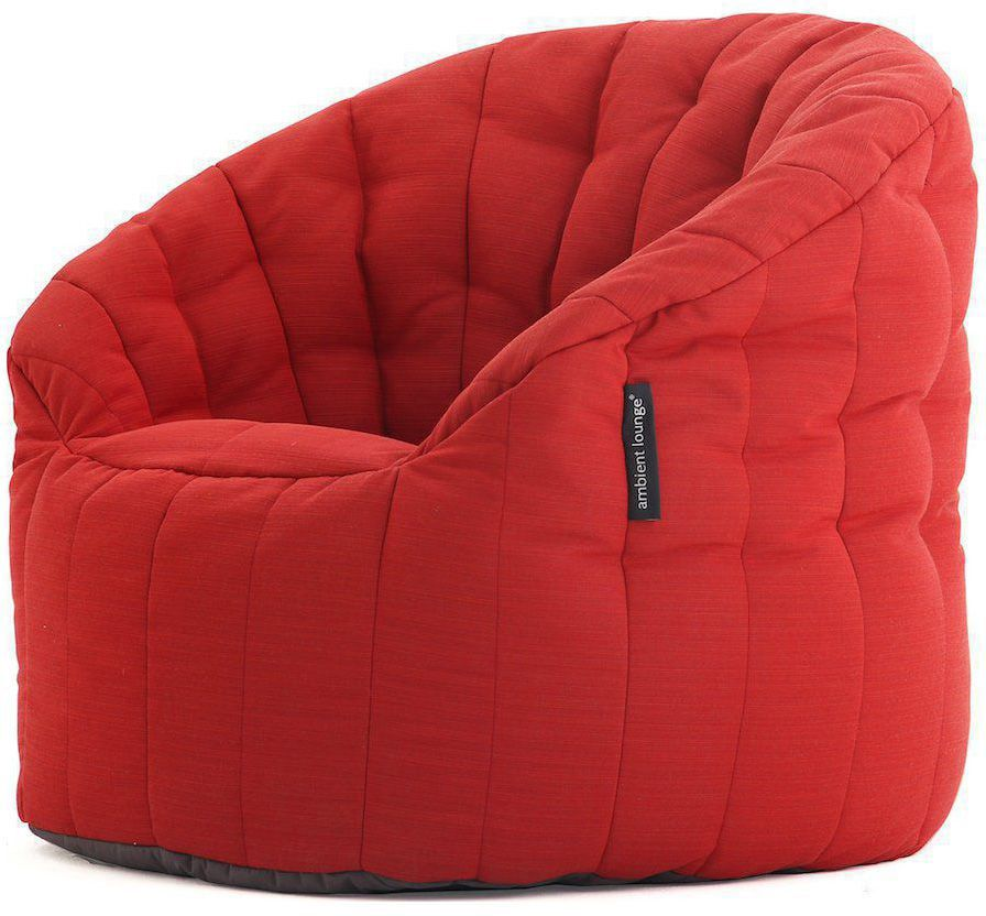 ambient lounge outdoor sunbrella butterfly sofa crimson vibe