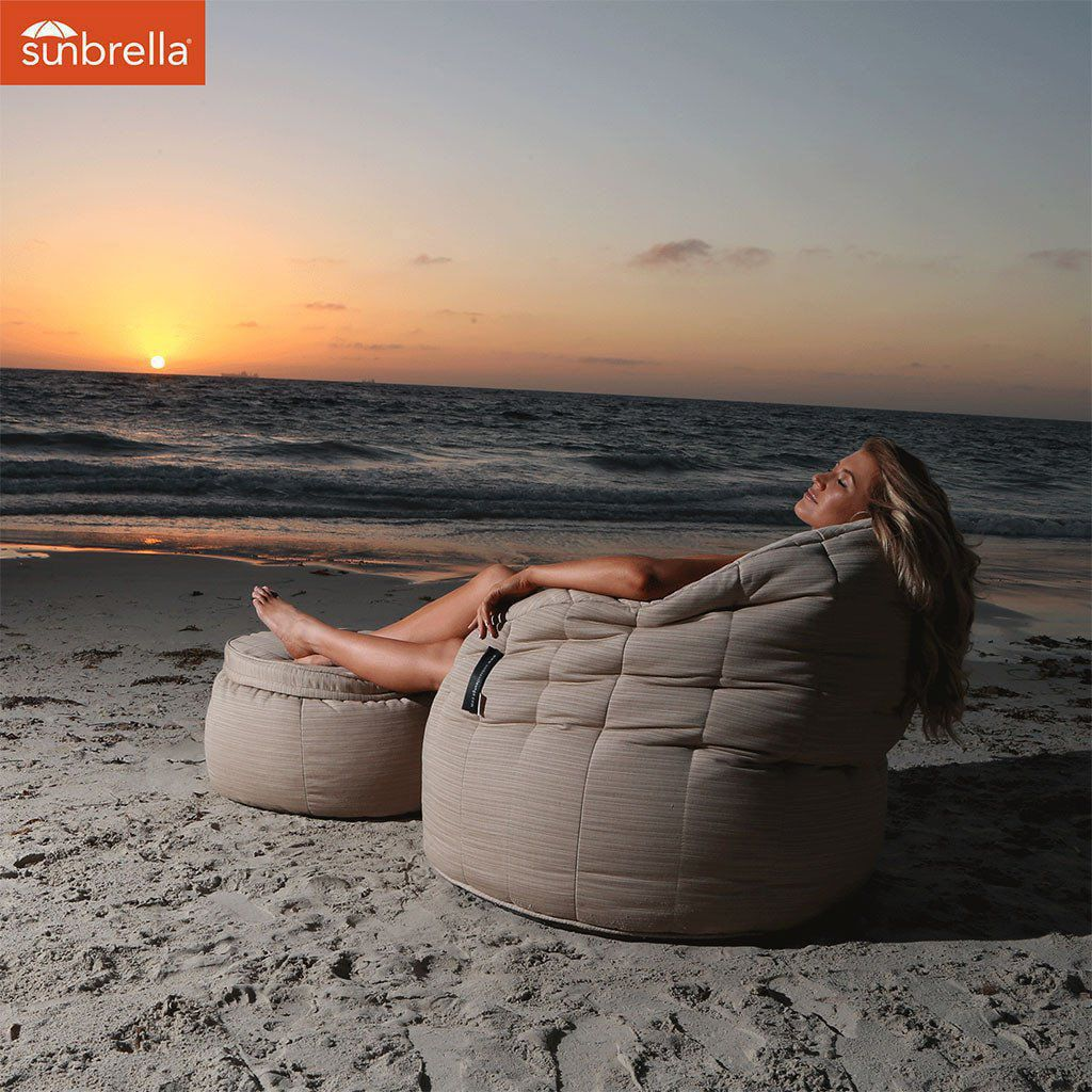 ambient lounge outdoor sunbrella butterfly sofa mudhoney dune