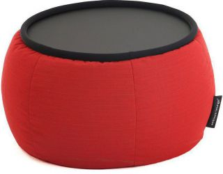 Ambient Lounge Outdoor Sunbrella Poef Versa Table - Crimson Vibe