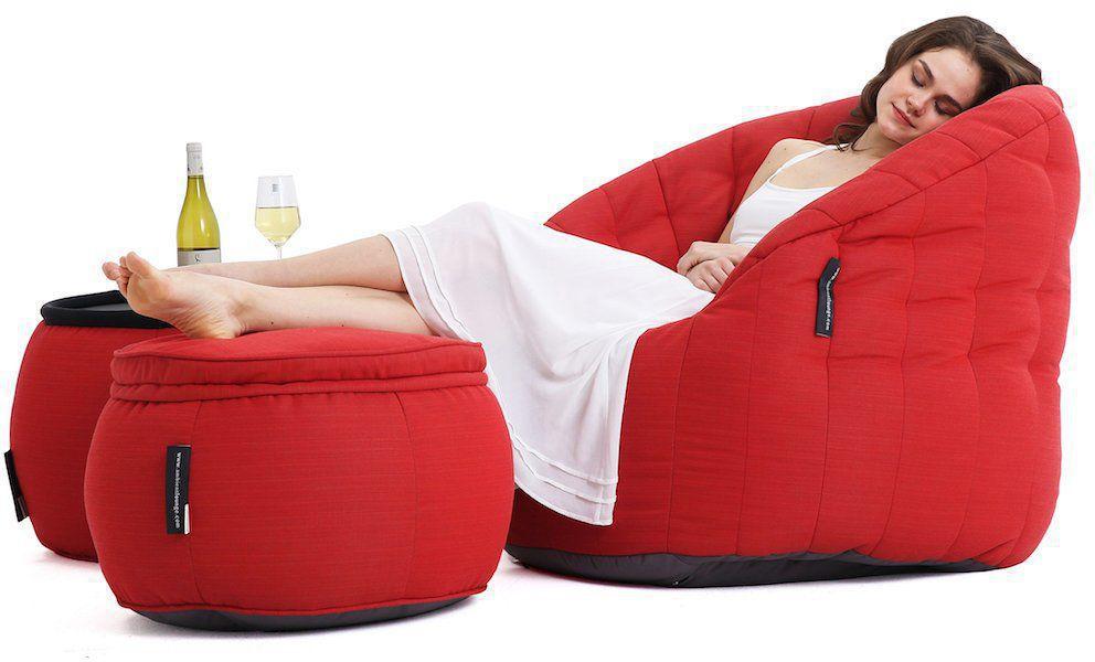 ambient lounge outdoor sunbrella poef versa table crimson vibe