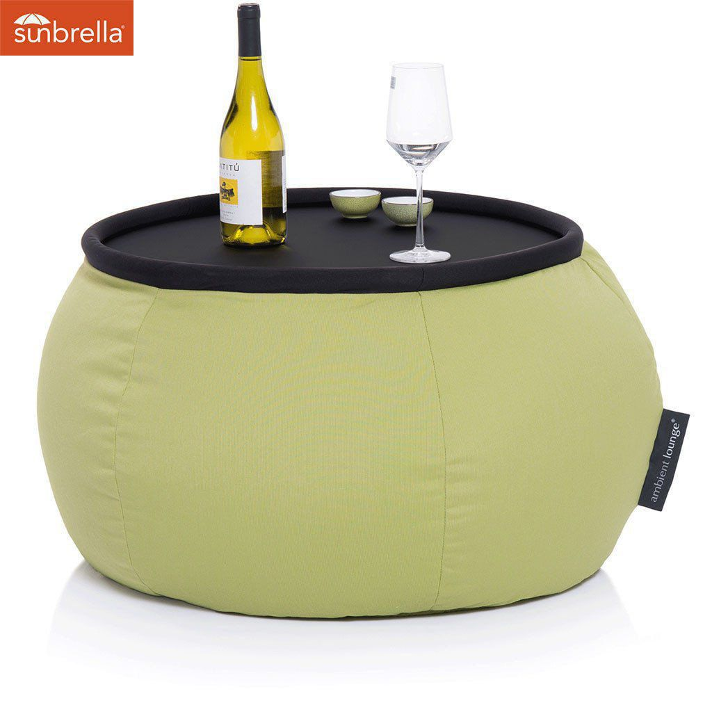 ambient lounge outdoor sunbrella poef versa table limespa