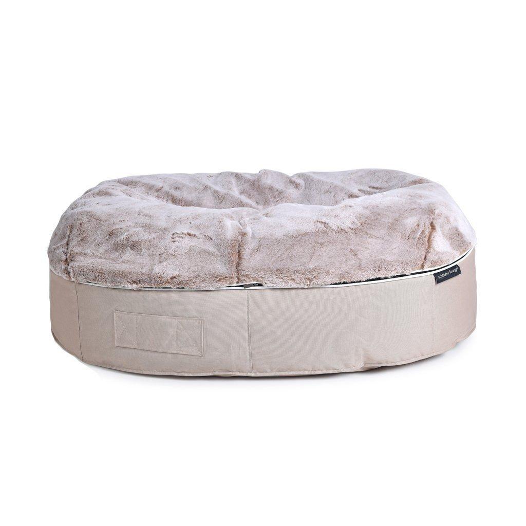 ambient lounge pet bed indooroutdoor cappuccino xxl
