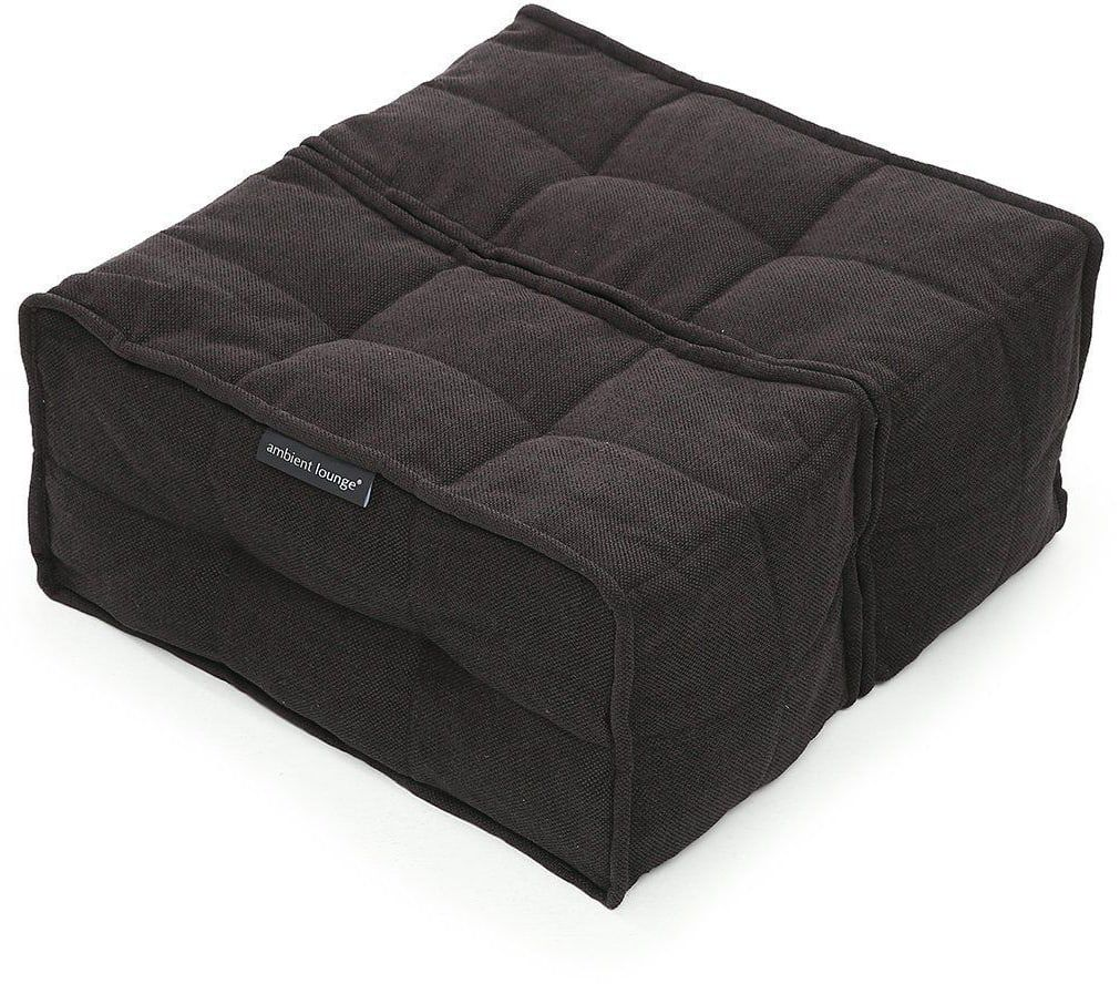 Ambient Lounge Poef Twin Ottoman - Black Sapphire