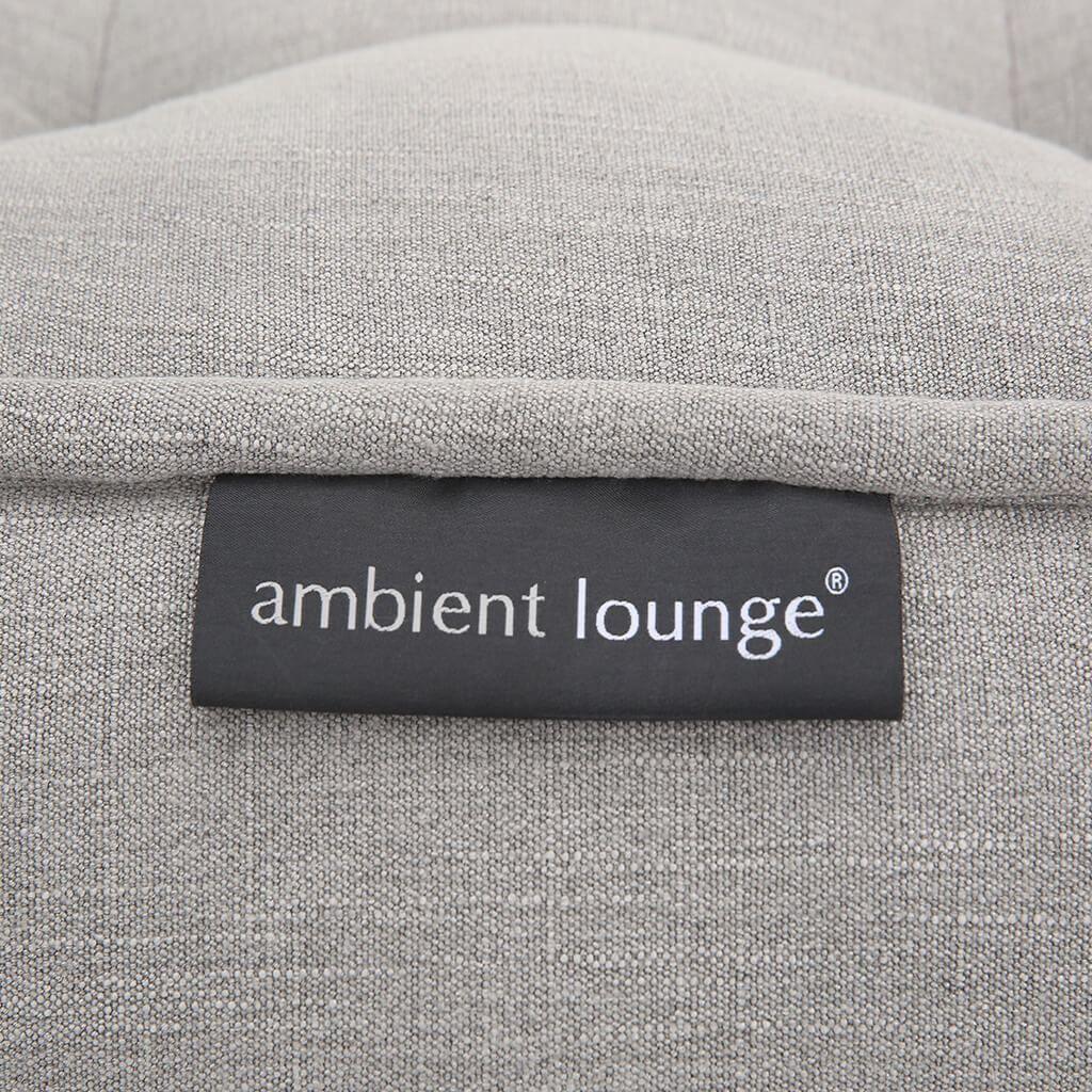 ambient lounge poef twin ottoman keystone grey