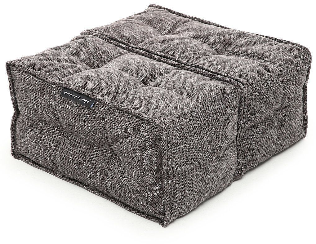 ambient lounge poef twin ottoman luscious grey