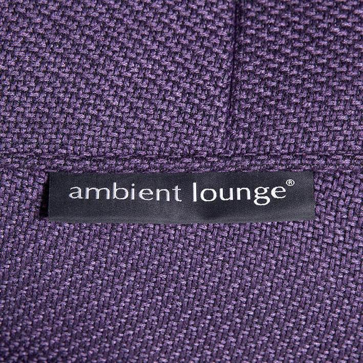ambient lounge poef versa table aubergine dream
