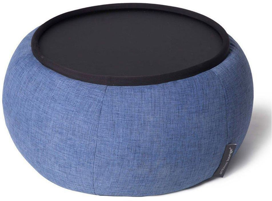ambient lounge poef versa table blue jazz