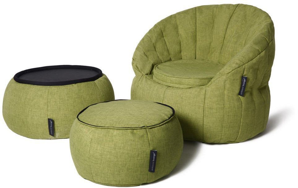 ambient lounge poef versa table lime citrus