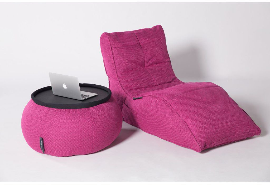ambient lounge poef versa table sakura pink