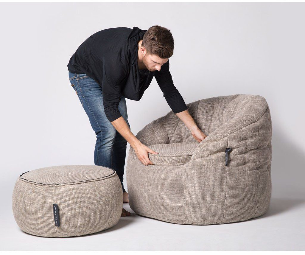 ambient lounge poef wing ottoman eco weave