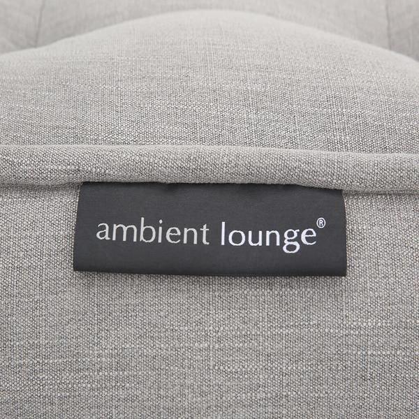ambient lounge poef wing ottoman keystone grey
