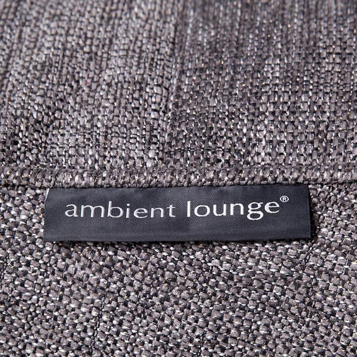 ambient lounge poef wing ottoman lucious grey