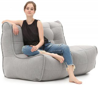 Ambient Lounge Twin Couch - Keystone Grey