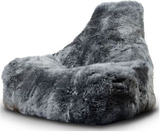 Extreme Lounging B-Bag Mighty-B Indoor Zitzak Sheepskin - Grijs