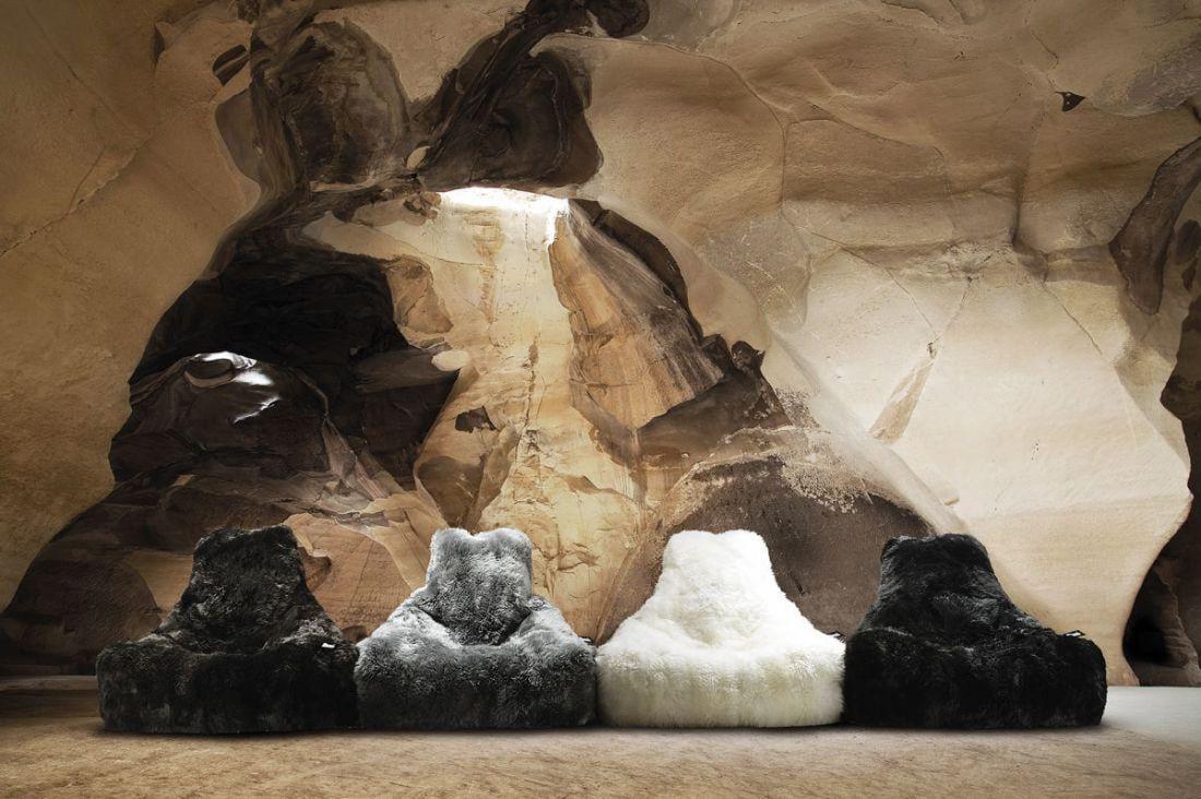 extreme lounging bbag mightyb indoor zitzak sheepskin wit
