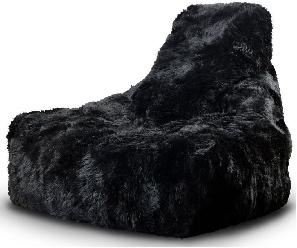 extreme lounging bbag mightyb indoor zitzak sheepskin zwart