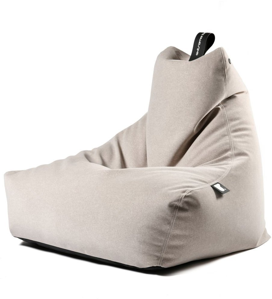 extreme lounging bbag mightyb indoor zitzak suede stone