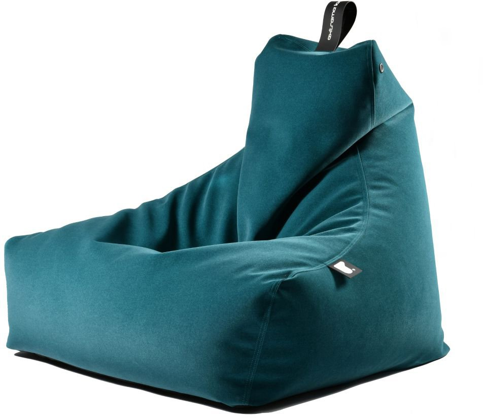 extreme lounging bbag mightyb indoor zitzak suede teal