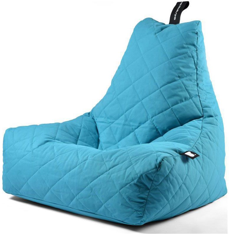 extreme lounging bbag mightyb zitzak quilted aqua