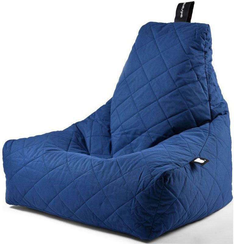 extreme lounging bbag mightyb zitzak quilted blauw