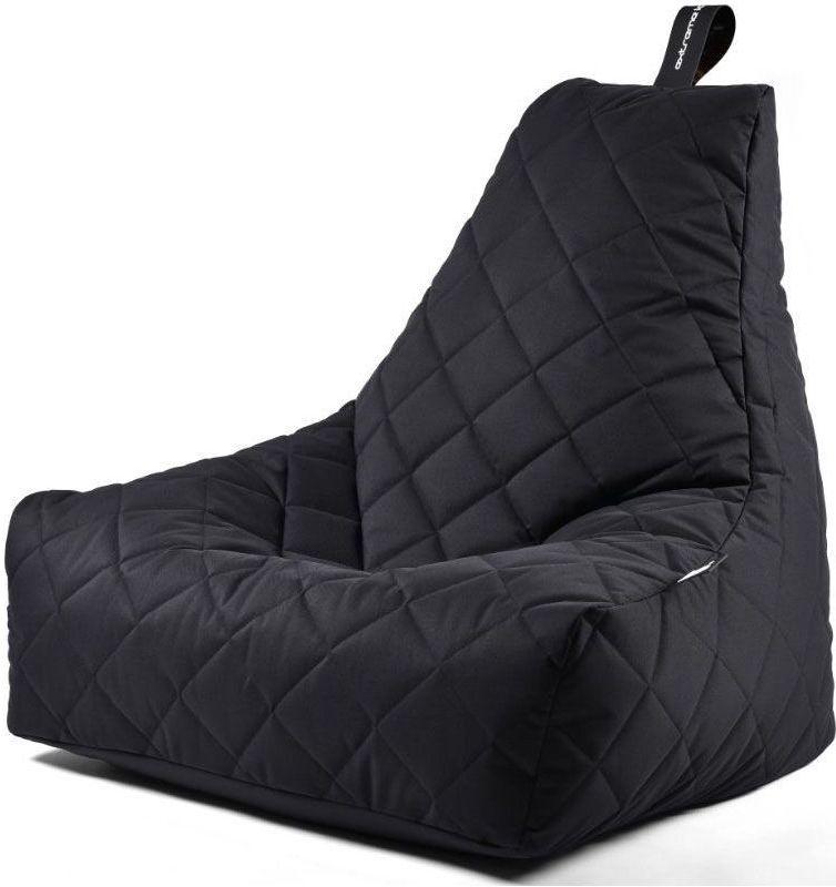 extreme lounging bbag mightyb zitzak quilted zwart