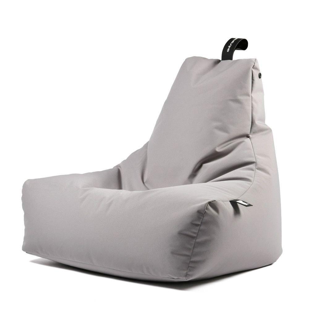 extreme lounging bbag mightyb zitzak silver grey