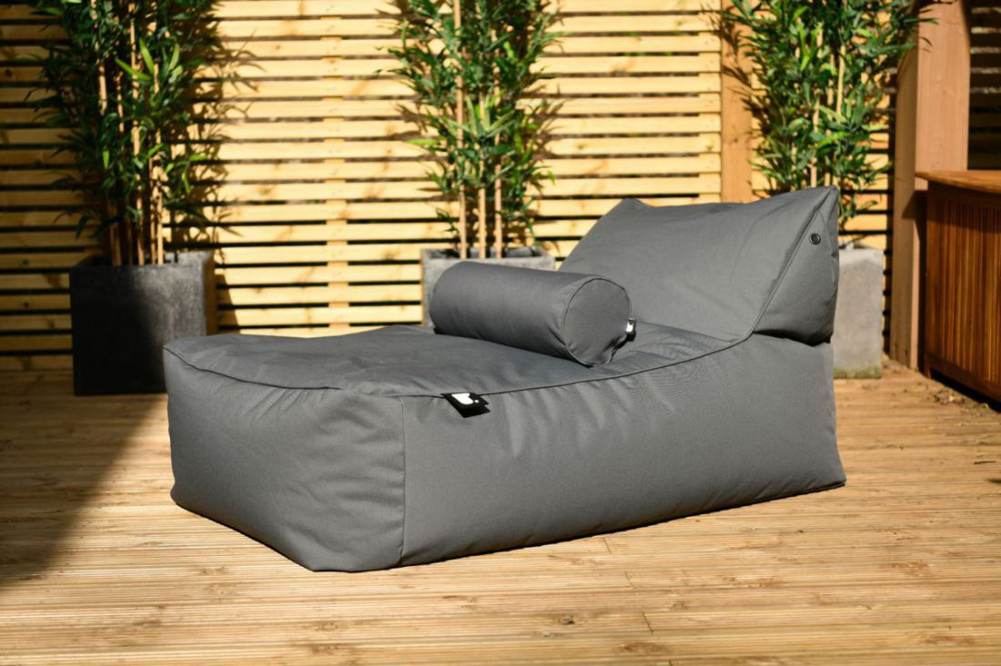 extreme lounging bbed lounger ligbed grijs