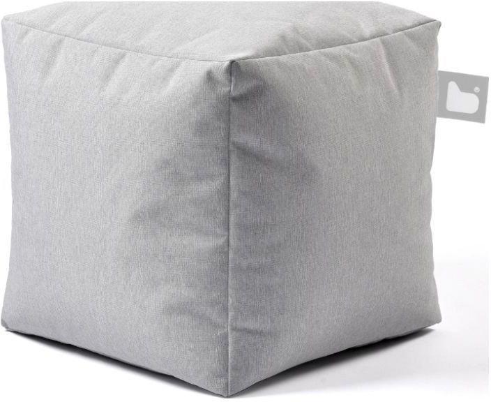 extreme lounging bbox poef pastel grijs