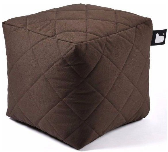 extreme lounging bbox quilted poef bruin