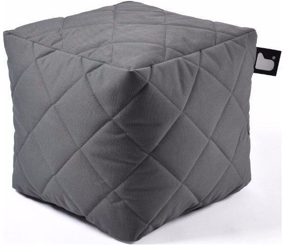extreme lounging bbox quilted poef grijs