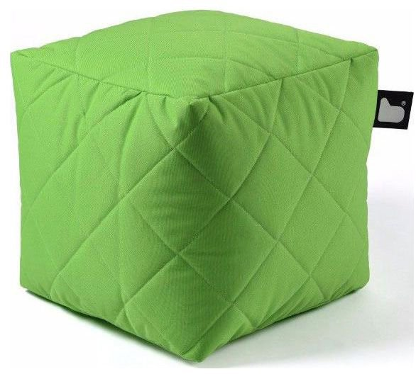 extreme lounging bbox quilted poef groen