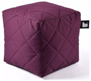 Extreme lounging B-Box Quilted Poef - Paars
