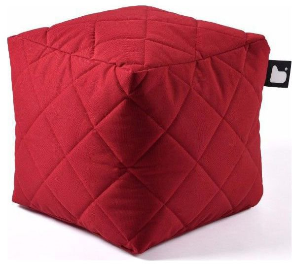 extreme lounging bbox quilted poef rood