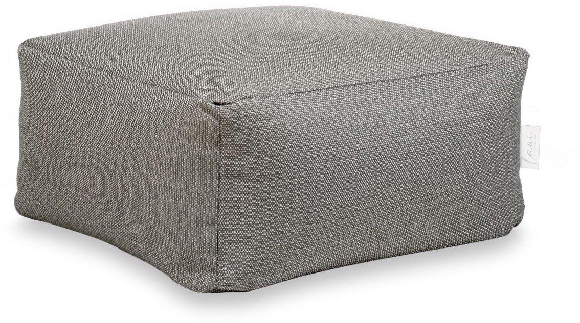 laui lounge poef basic square outdoor stone grey