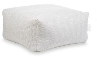 Laui Lounge Poef Boho Square Outdoor - White