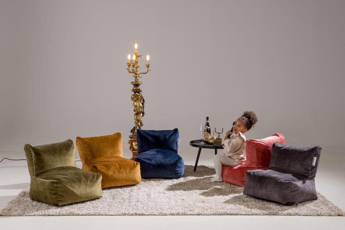 laui lounge velvet kids indoor gold