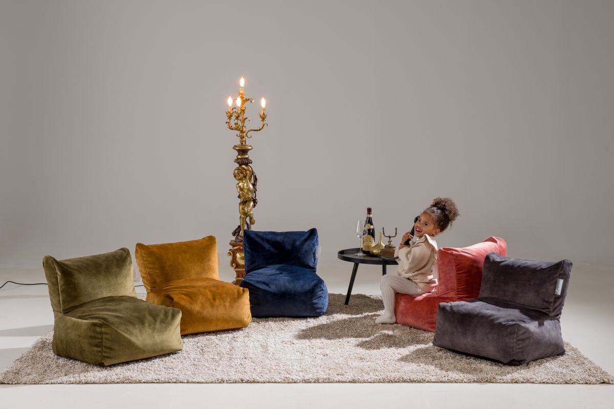 laui lounge velvet kids indoor indigo