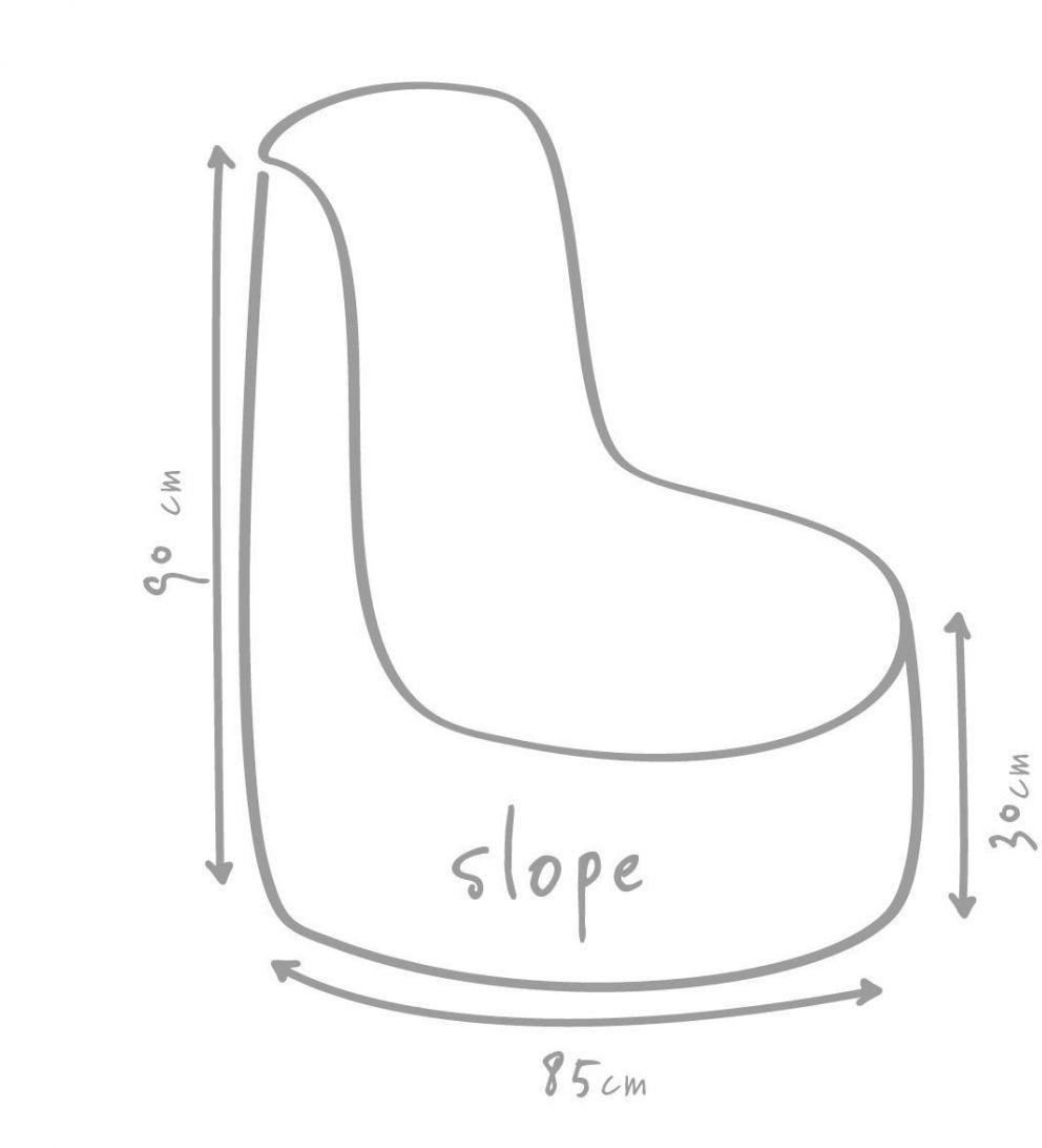 outbag zitzak slope plus taupe
