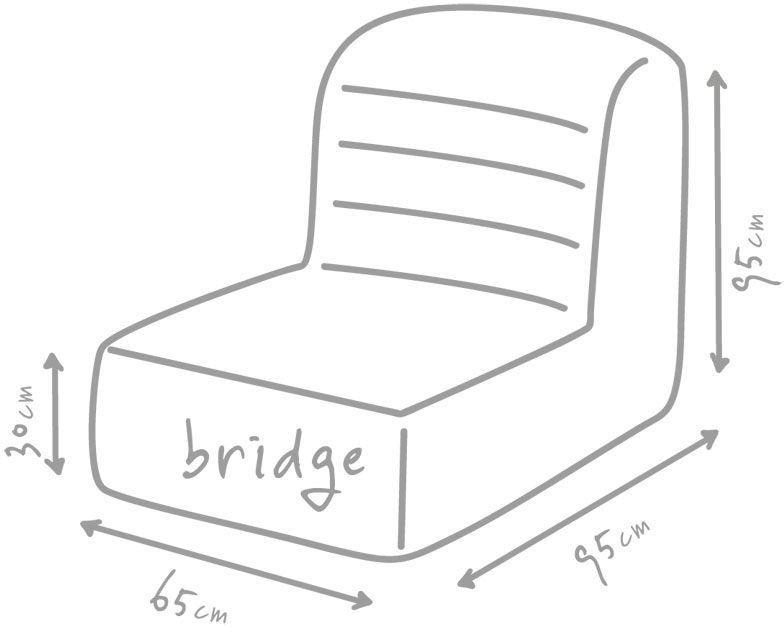 outbag zitzak stoel bridge plus limoen