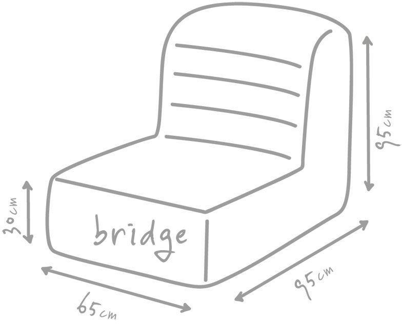 outbag zitzak stoel bridge plus mud